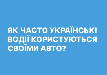 Як часто українські водії користуються своїми авто?